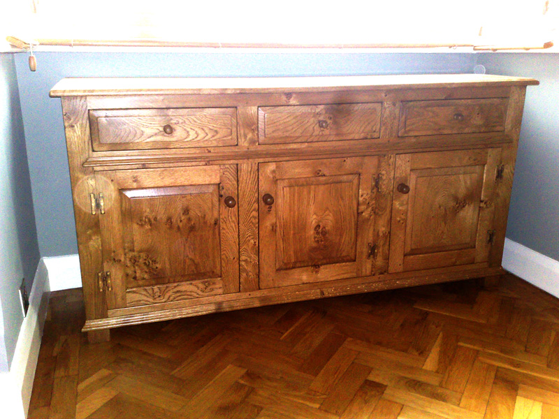 Oak Refectory Tables For Sale Arthurs Cabinet & Draws - Quercus Furniture
