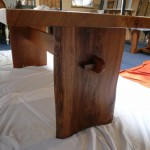 Live Edge Pippy Oak Top with Butterfly Elm Base (3)