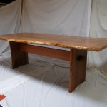 Live Edge Pippy Oak Top with Butterfly Elm Base (4)