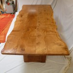 Live Edge Pippy Oak Top with Butterfly Elm Base (6)