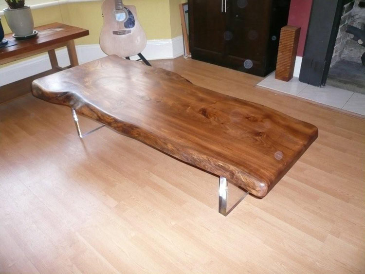 Oak Refectory Tables For Sale Handmade Floating Elm Slab Coffee Table - Quercus Furniture