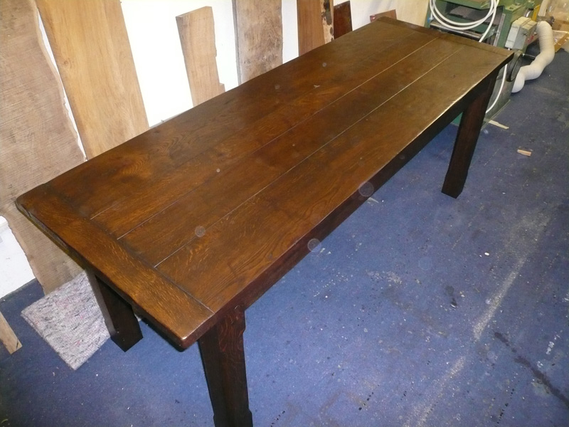 Oak Refectory Tables For Sale Rustic Oak Handmade Side Table - Quercus Furniture