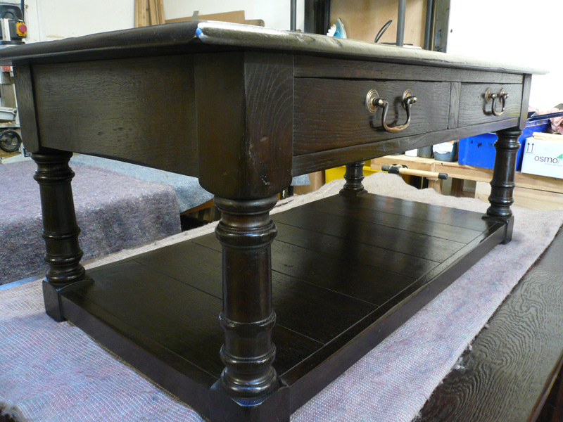 Oak Refectory Tables For Sale Dark Handmade Coffee Table with Draws - Quercus Furniture