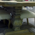 Handmade Table with Bulbous Leg