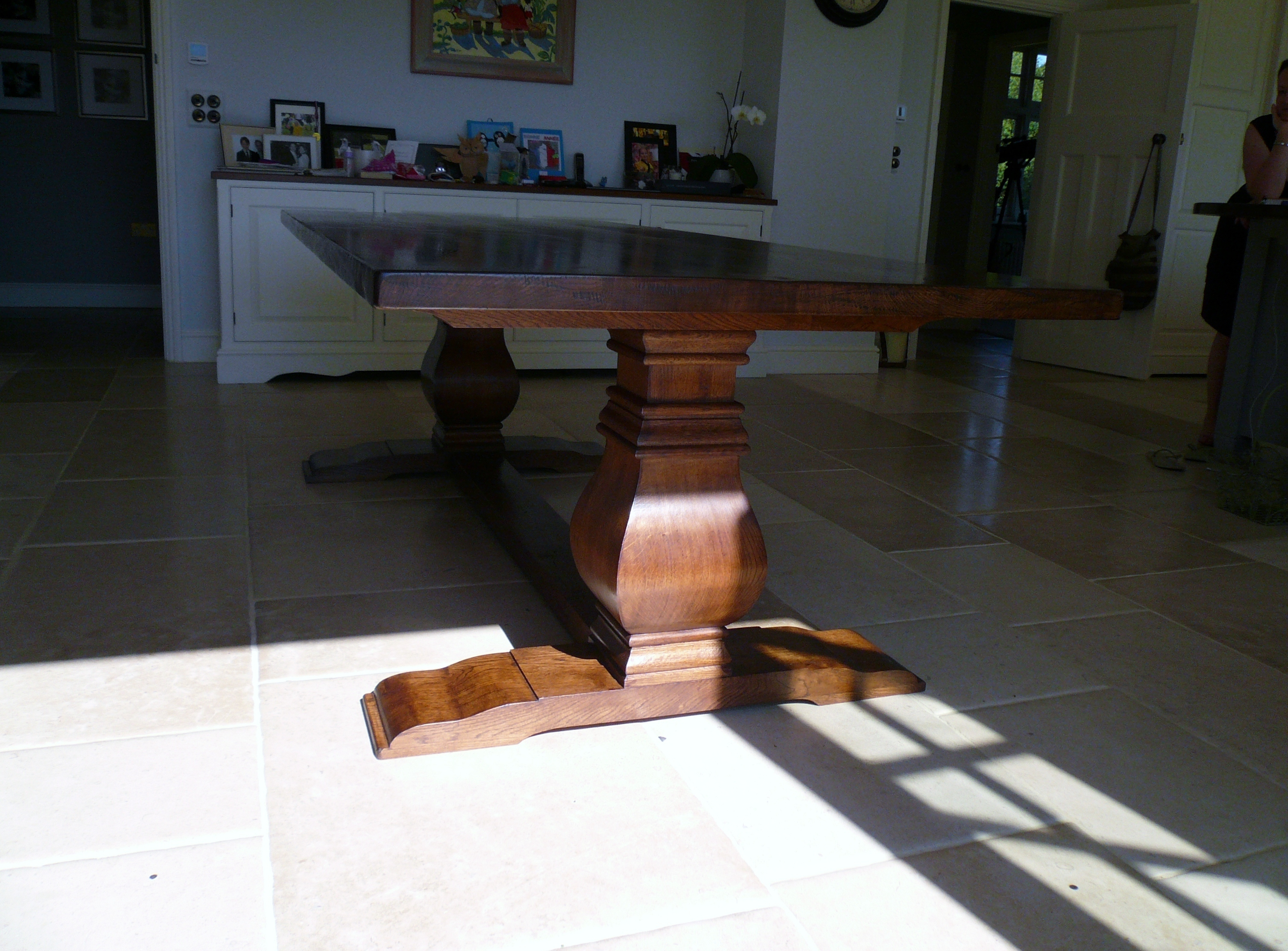 Made To Order Bespoke Oak Dining Table. Full resolution  photo, nominally Width 3016 Height 2228 pixels, photo with #956136.