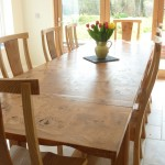 Large Oak Dining Table and Chairs
