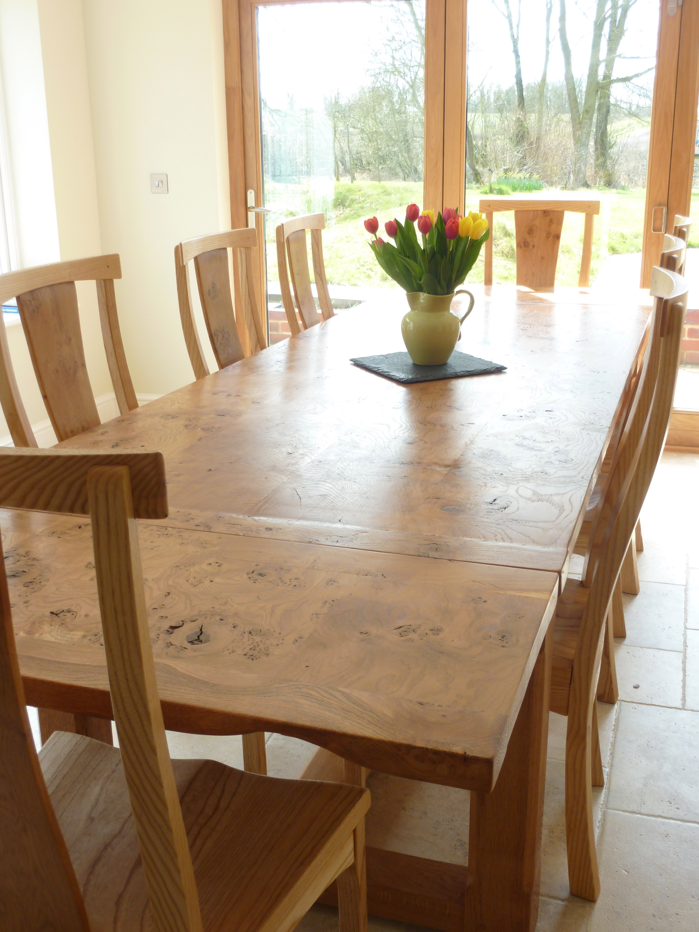 Inspirational large dining room table seats 12 uk light of dining room - Oak dining tables uk ...