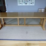 A new design large Oak dining table.