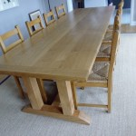 Large Oak dining table.