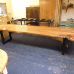 Live Waney Edge Elm Dining Table