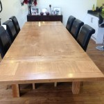 Handcrafted extending oak table