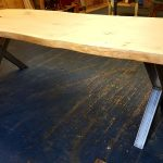 Single Waney Edge Oak Slab Dining Table