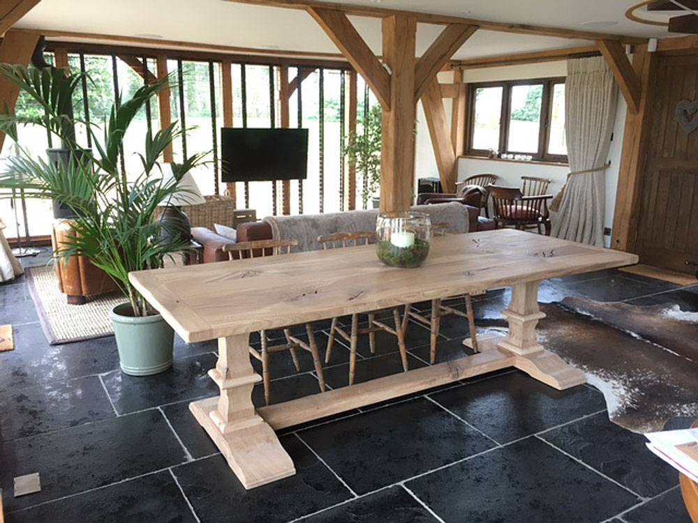 Bespoke Dining Table With Pedestal Base Quercus Furniture