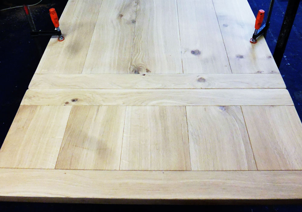 handmade Extending Dining Table in the workshop