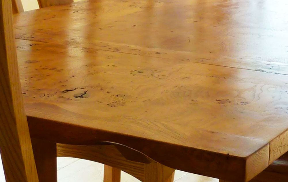Handmade Extending Refectory Table Closeup