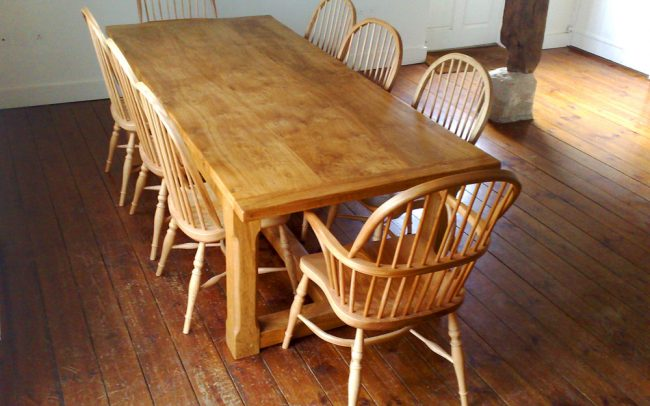 Handmade Refectory Table in Oak