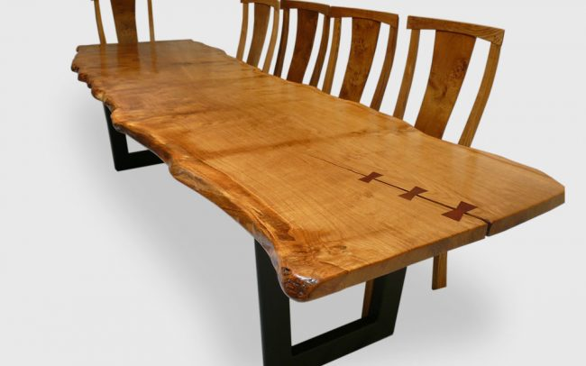 Live Waney Edge Table With Butterfly Joints